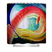 Sphere Serpula 2 Shower Curtain