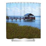 Spi Birding Center Boardwalk Shower Curtain