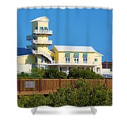 Spi Birding Center From The Boardwalk Shower Curtain