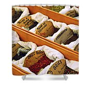 Spices On The Market Shower Curtain by Elena Elisseeva