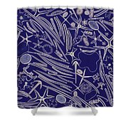 Spicules Of Marine Sponges, Etc. Lm Shower Curtain