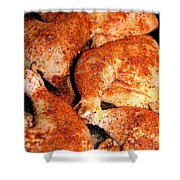 Spicy Chicken Shower Curtain