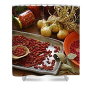 Spicy Still Life Shower Curtain