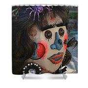 Spiderwoman Scarecrow Shower Curtain