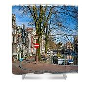 Spiegelgracht 36. Amsterdam Shower Curtain