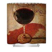 Spilled Wine Shower Curtain