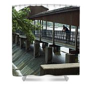 Spillway In Indiana Shower Curtain