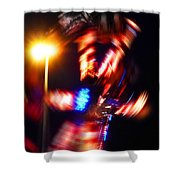 Spin Two Shower Curtain by Charles Stuart