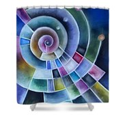 Spinning Shower Curtain