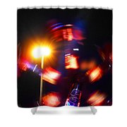 Spinning Ride Shower Curtain