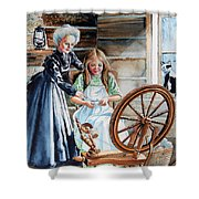 Spinning Wheel Lessons Shower Curtain