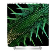 Spiny Branch Shower Curtain