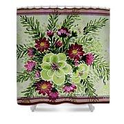 Spiral Bouquet  Shower Curtain