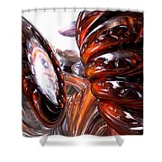 Spiral Dimension Abstract Shower Curtain