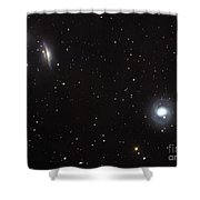 Spiral Galaxies Ngc 1068 And Ngc 1055 Shower Curtain