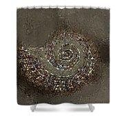 Spiral Textures Shower Curtain