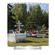 Spirit Houses Of Eklutna Shower Curtain