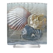 Spirit Of The Sea - Seashells And Surf Shower Curtain