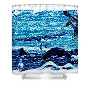 Spirit Of The Wild Blue Shower Curtain