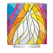 Spirit Rests As A Dove Shower Curtain