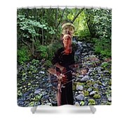 Spirit Rising From The Creek Shower Curtain