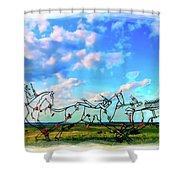 Spirit Warriors - Little Bighorn Battlefield Indian Memorial Shower Curtain