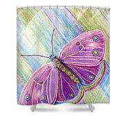 Spiritual Butterfly Shower Curtain