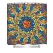 Spiritual Pinwheel Shower Curtain