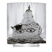 Spirituality In The Himalayas Shower Curtain