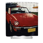 Spitfire By Night Shower Curtain