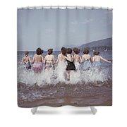 Splashing Into Lake George Shower Curtain