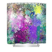 Splattered Colors Abstract Shower Curtain