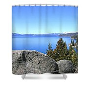 Splendid Lake Tahoe Shower Curtain