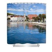 Split Bay In Croatia Shower Curtain