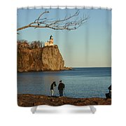 Split Rock Shower Curtain