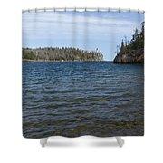 Split Rock Lighthouse 85 Shower Curtain