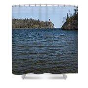 Split Rock Lighthouse 86 Shower Curtain