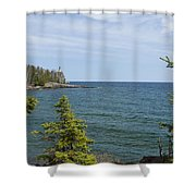 Split Rock Lighthouse 92 Shower Curtain