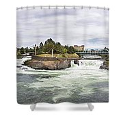 Spokane Falls From The Lincoln Street Bridge Shower Curtain