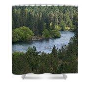 Spokane River Scene 2 Shower Curtain