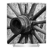 Spokes Shower Curtain by Ernie Echols