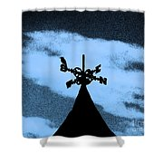 Spooky Silhouette Shower Curtain by Al Powell Photography USA