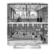 Sports: Gymnastics, 1859 Shower Curtain