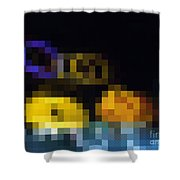 Spotted Building Blocks Shower Curtain