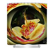 Spotted Lily Energies Shower Curtain