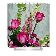 Spray Of Flowers Shower Curtain