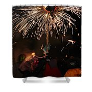 Spray Of Sparks Shower Curtain