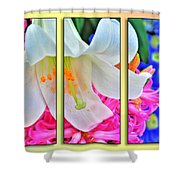 Spring Again Triptych Series Shower Curtain