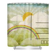Spring And Summer Postcard Shower Curtain