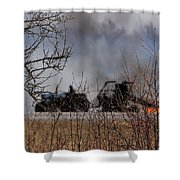 Spring Burning Of The Blueberry Fields Shower Curtain